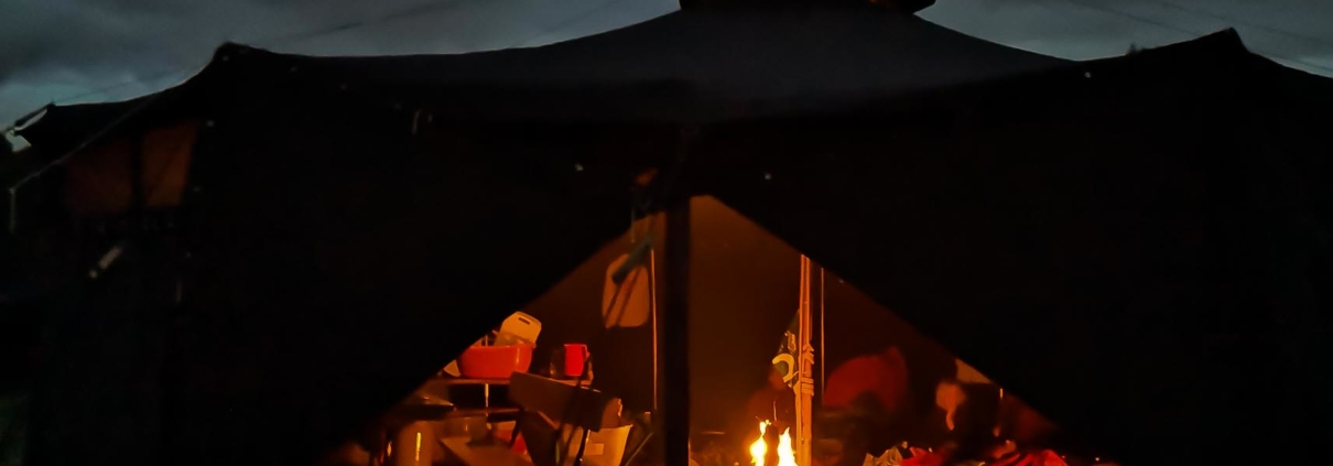 Feuer in der Jurte